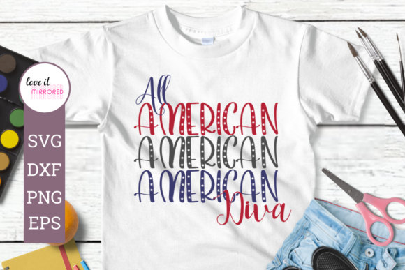 Download Free All American Diva Mirror Word Design Graphic By Love It Mirrored for Cricut Explore, Silhouette and other cutting machines.