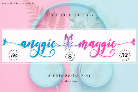 Print on Demand: Anggie & Maggie Script & Handwritten Font By aldedesign