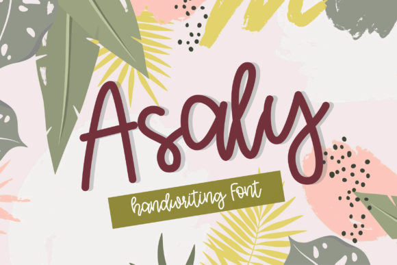 Print on Demand: Asaly Script & Handwritten Font By meiimi