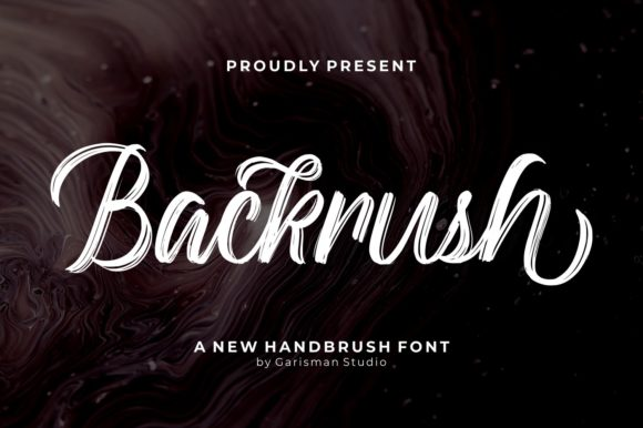 Print on Demand: Backrush Script & Handwritten Font By Garisman Studio