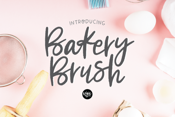 Print on Demand: Bakery Brush Script & Handwritten Font By dixietypeco