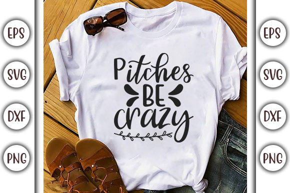 Download Free Base Ball Design Pitches Be Crazy Graphic By Graphicsbooth for Cricut Explore, Silhouette and other cutting machines.