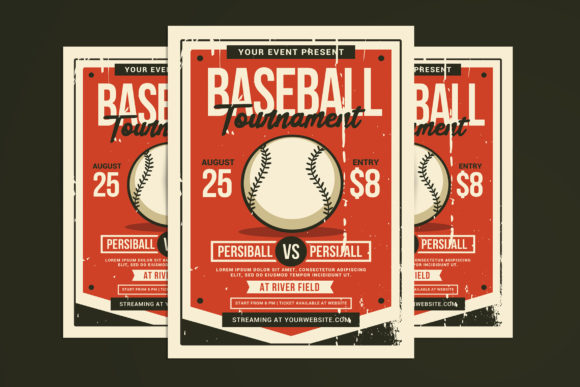 Download Free Baseball Tournament Flyer Graphic By Muhamadiqbalhidayat for Cricut Explore, Silhouette and other cutting machines.