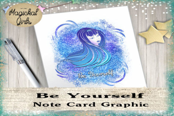 Download Free Blue Rose Stationary Graphic By Magickal Girls Michelle S Myths for Cricut Explore, Silhouette and other cutting machines.