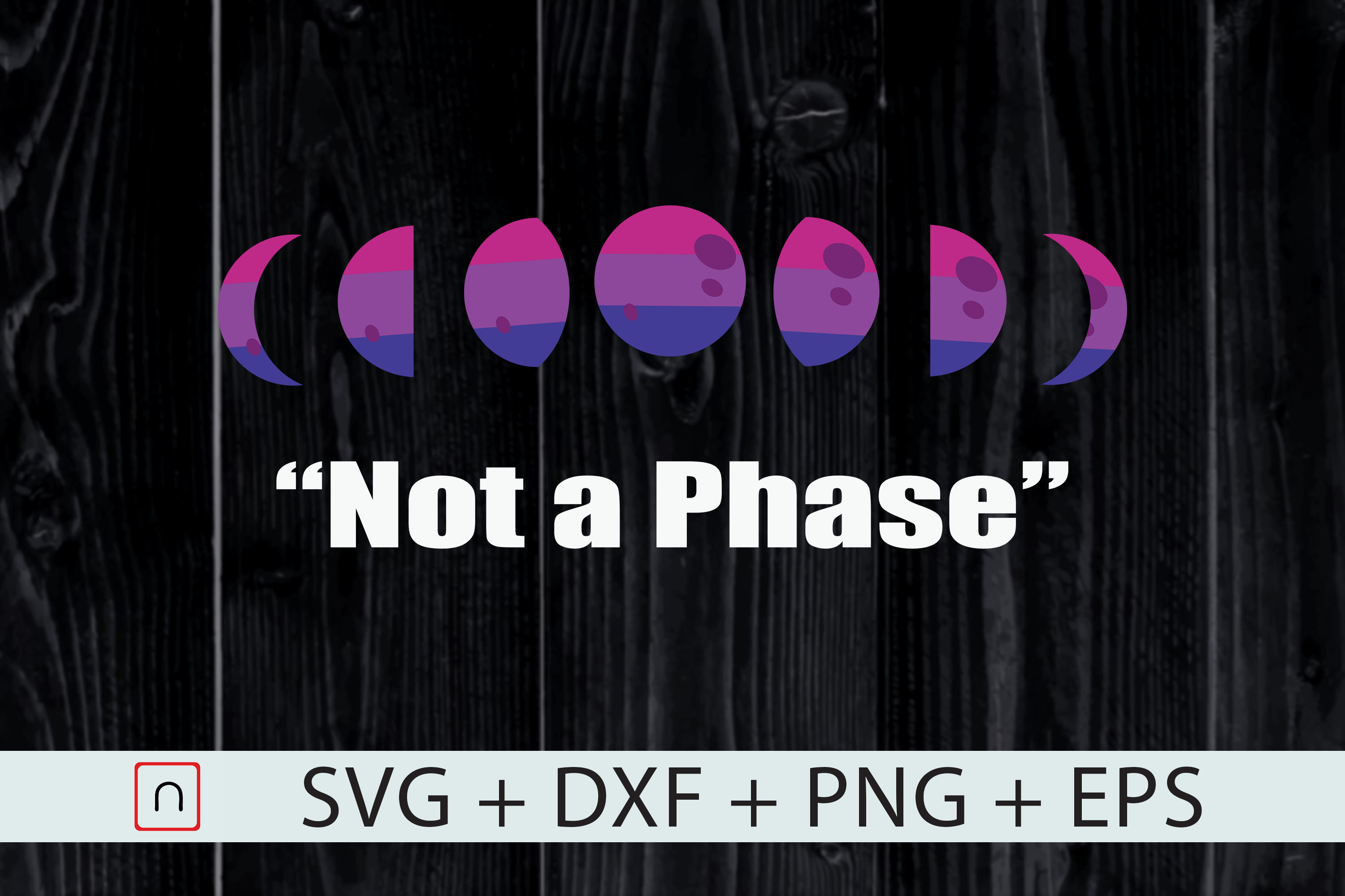 Download Free Bi Moons I M Not A Phase Graphic By Novalia Creative Fabrica for Cricut Explore, Silhouette and other cutting machines.