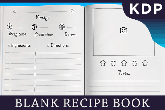 Print on Demand: Blank Recipe Book Cookbook for KDP Graphic KDP Interiors By KDP Interiors