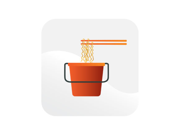 1 Bowl Noodle Soup Icon Designs Graphics