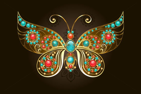 Butterfly Brooch Graphic Illustrations By Blackmoon9