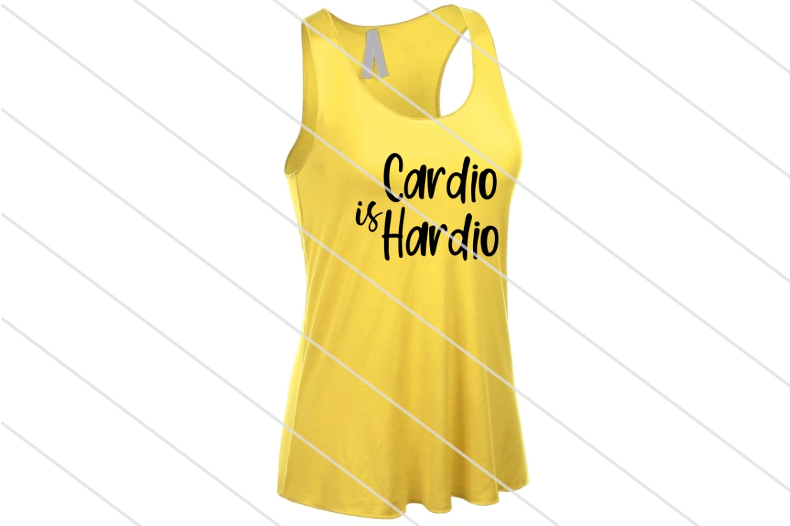 Download Free Cardio Is Hardio Graphic By Amy Anderson Designs Creative Fabrica for Cricut Explore, Silhouette and other cutting machines.