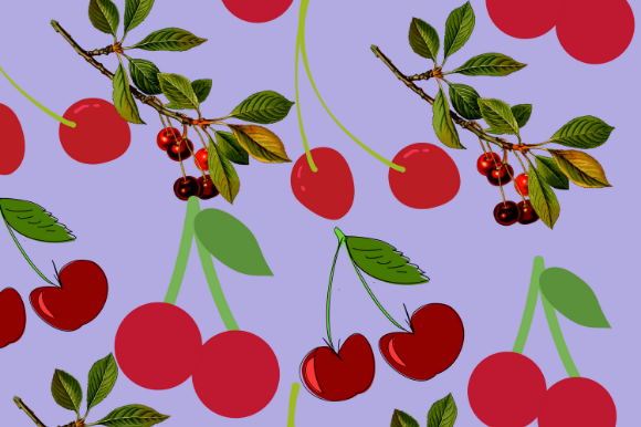 Print on Demand: Cherry Pattern Background for Fruit Love Graphic Patterns By EndlessGraphical