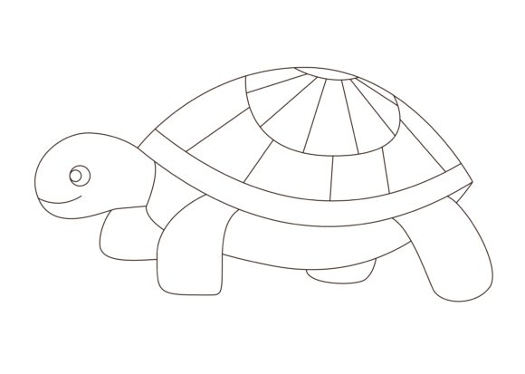 Print on Demand: Children Coloring Turtle Graphic Illustrations By studioisamu