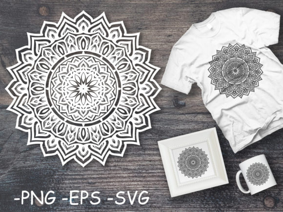 Download Free Circular Pattern Mandala Art 17 Graphic By Azrielmch Creative for Cricut Explore, Silhouette and other cutting machines.
