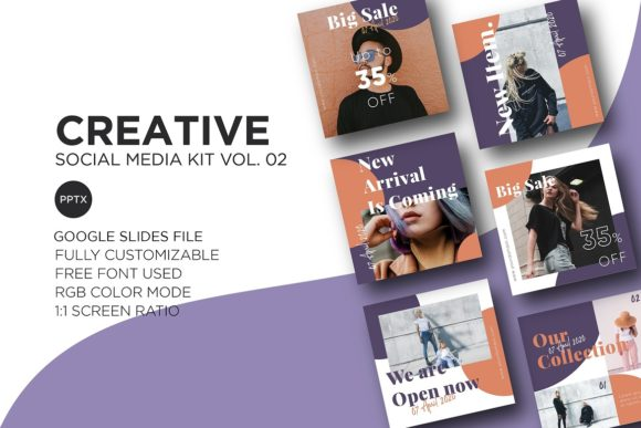 Download Free Creative Social Media Kit Vol 02 Graphic By Wijayacreative for Cricut Explore, Silhouette and other cutting machines.
