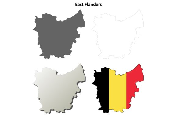 Download Free East Flanders Map Set Belgian Version Graphic By Davidzydd Creative Fabrica for Cricut Explore, Silhouette and other cutting machines.