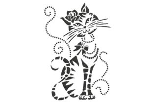 Elegant Cat 2 Cats Embroidery Design By BabyNucci Embroidery Designs