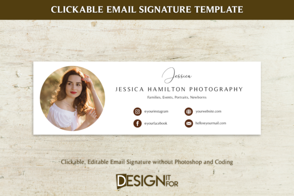 Print on Demand: Email Signature Template Clickable Graphic Email Templates By DesignItfor