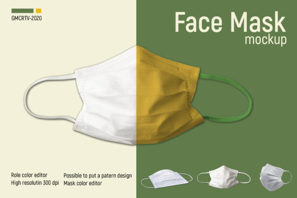 Download Free Face Mask Mockup Graphic By Gumacreative Creative Fabrica for Cricut Explore, Silhouette and other cutting machines.