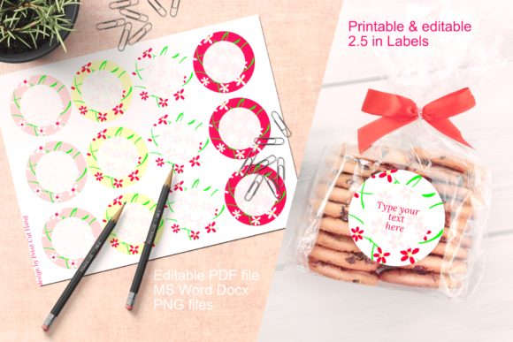 Download Free Floral Labels Template Editable Graphic By Print Cut Hang for Cricut Explore, Silhouette and other cutting machines.