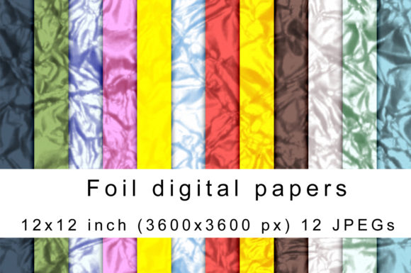 Download Free Foil Digital Papers Graphic By Andrea Kostelic Creative Fabrica for Cricut Explore, Silhouette and other cutting machines.
