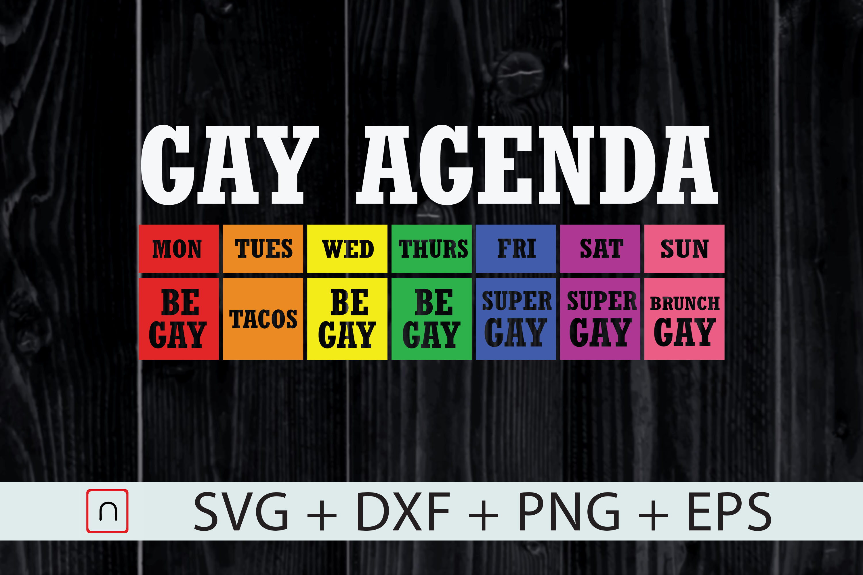 Download Free Gay Pride Agenda Lgbt Month Pride Week Grafico Por Novalia for Cricut Explore, Silhouette and other cutting machines.