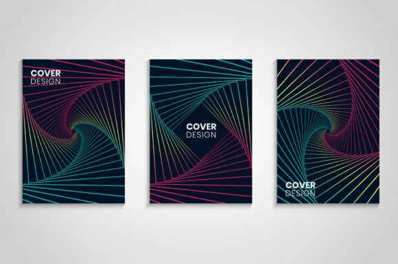 Download Free Minimal Geometric Gradient Cover Set Graphic By Medelwardi for Cricut Explore, Silhouette and other cutting machines.