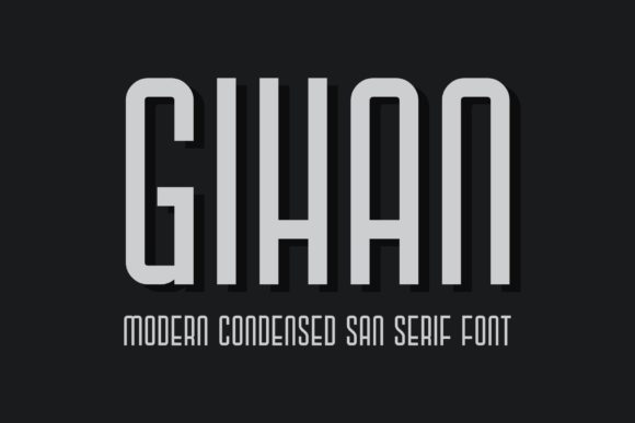 Print on Demand: Gihan Sans Serif Font By sandylukee