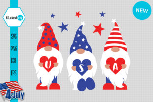 Print on Demand: Gnomies Usa, American Gnome Graphic Crafts By All About Svg