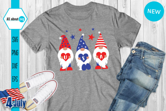 Download Free Gnomies Usa American Gnome Graphic By All About Svg Creative for Cricut Explore, Silhouette and other cutting machines.