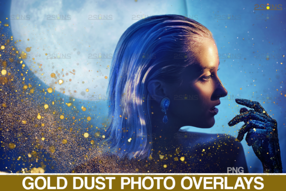 Download Free Gold Dust Overlay Photoshop Overlays Graphic By 2suns for Cricut Explore, Silhouette and other cutting machines.