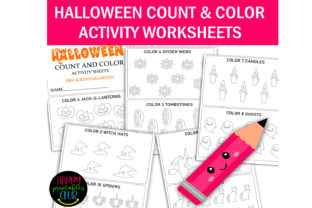Halloween Count - Color Activity Sheets Graphic K By Happy Printables Club