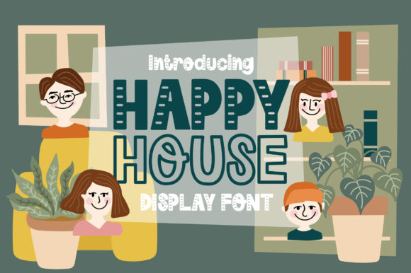 Print on Demand: Happy House Display Font By Caoca Studio