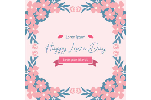Happy Love Day Invitation Card Design Graphic Backgrounds By stockfloral