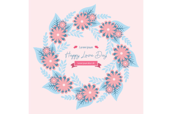 Happy Love Day Invitation Card Template Graphic Backgrounds By stockfloral