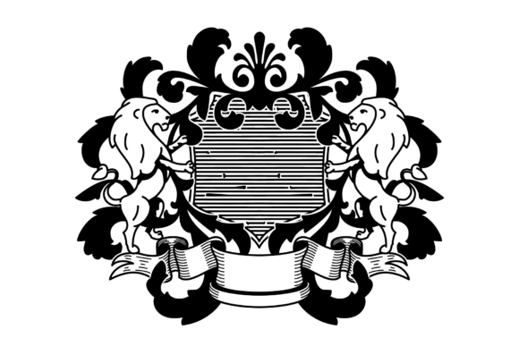 Download Free Heraldry Royal Crest Coat Of Arms Graphic By Pedro Alexandre for Cricut Explore, Silhouette and other cutting machines.