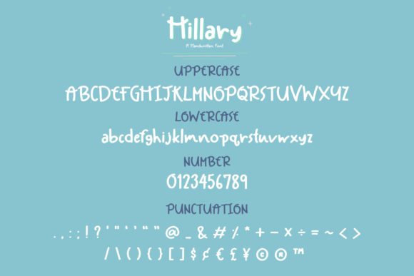 Print on Demand: Hillary Script & Handwritten Font By Wanida Toffy - Image 3