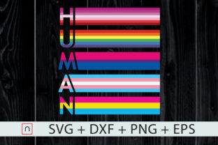 Print on Demand: Human LGBT Colorful Flag - All LGBT Colors Graphic Print Templates By Novalia