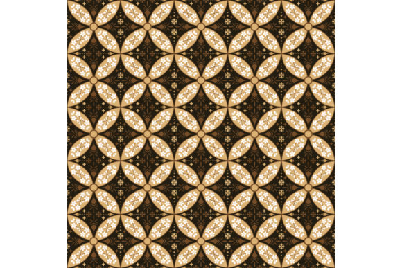 Javanese Batik Seamless Texture Graphic Backgrounds By cityvector91
