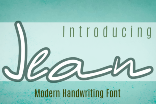 Print on Demand: Jean Script & Handwritten Font By Patrick Design