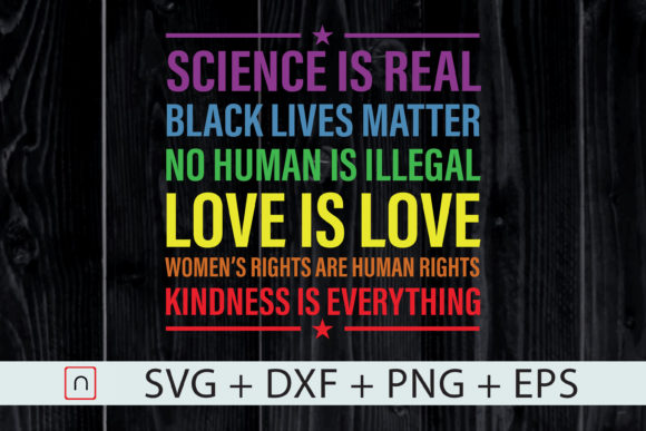 Print on Demand: Kindness is Everything - Science Love is Love Graphic Print Templates By Novalia