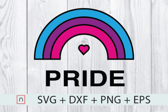 Download Free Lgbt Bi Pride Rainbow Colors Graphic By Novalia Creative Fabrica for Cricut Explore, Silhouette and other cutting machines.