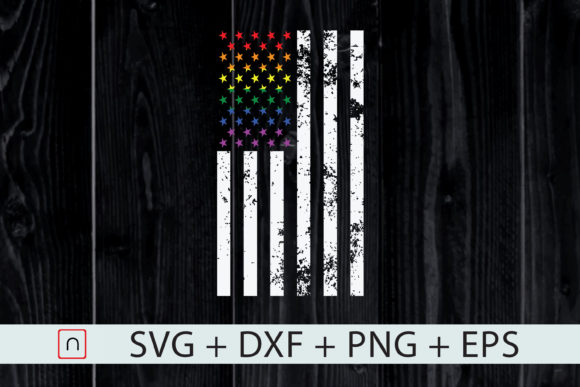 Download Free Lgbt Flag Pride Rainbow Us Flag Graphic By Novalia Creative for Cricut Explore, Silhouette and other cutting machines.