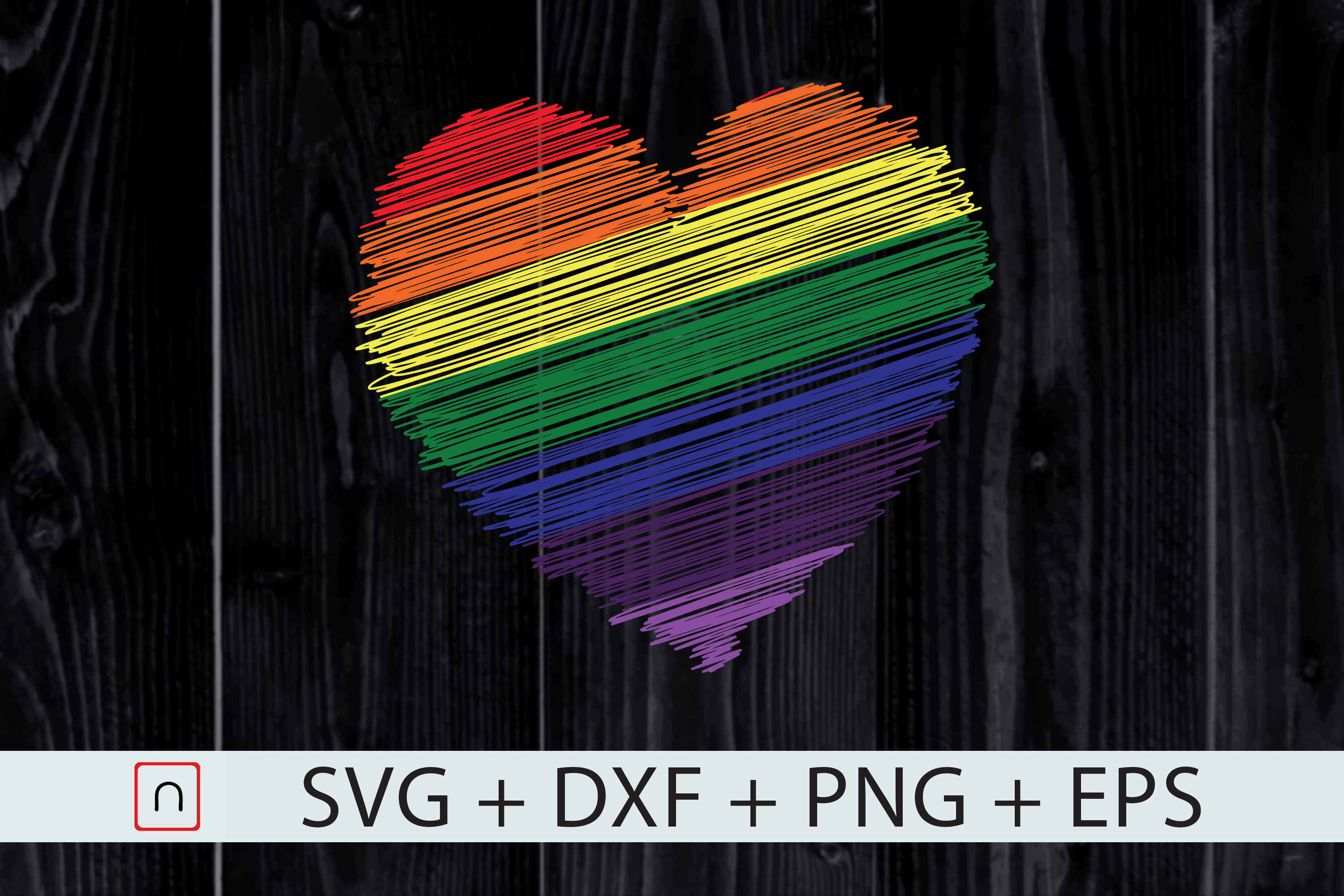 Download Free Lgbt Rainbow Colored Heart Graphic By Novalia Creative Fabrica for Cricut Explore, Silhouette and other cutting machines.
