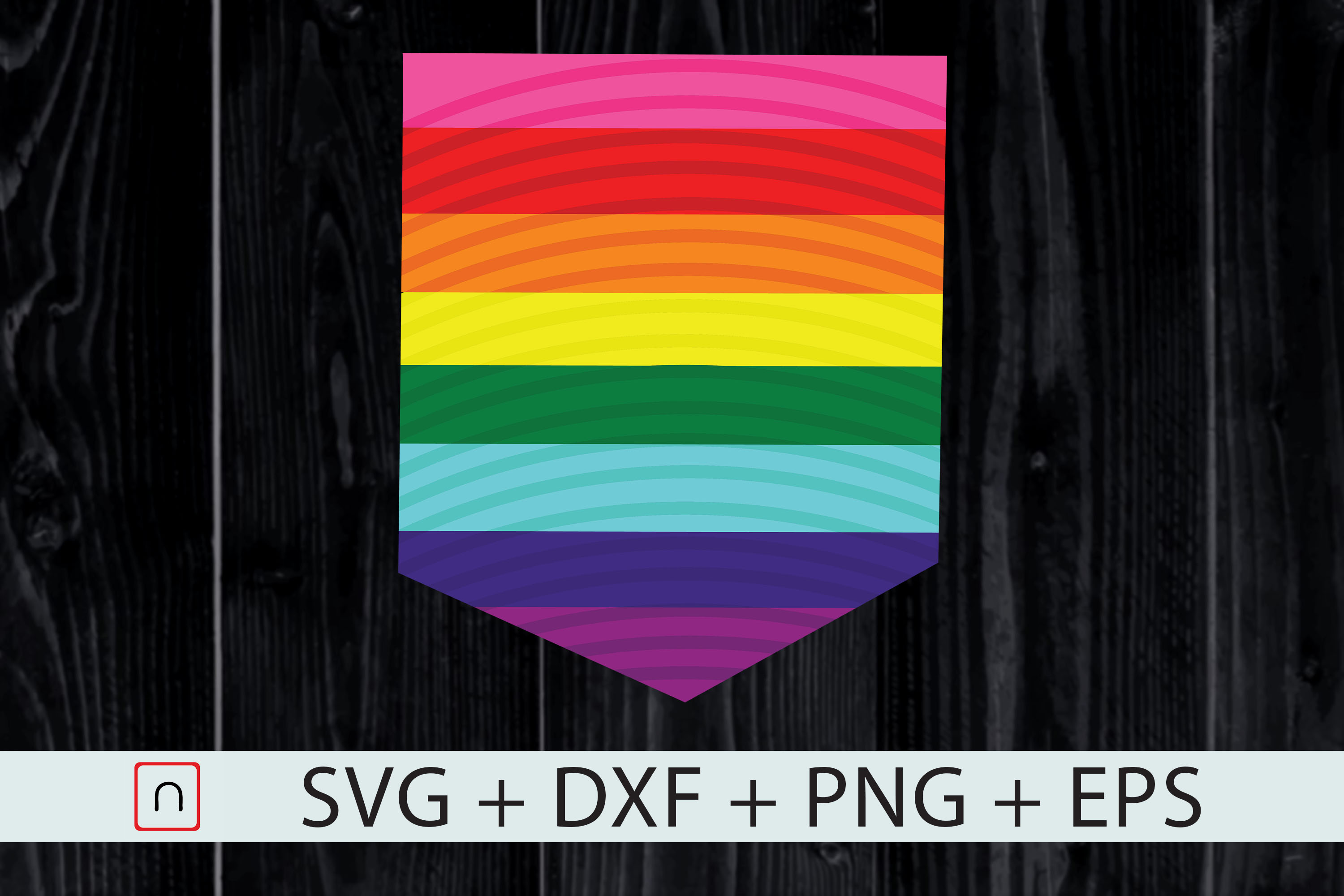 Download Free Lgbt Original 8 Stripe Pride Flag Pocket Graphic By Novalia for Cricut Explore, Silhouette and other cutting machines.