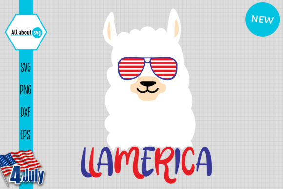 Download Free Llamerica American Llama Graphic By All About Svg Creative for Cricut Explore, Silhouette and other cutting machines.