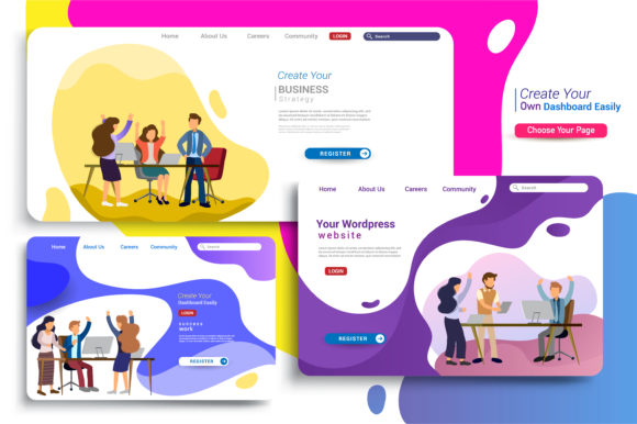 Landing Page Design Templates Graphic Email Templates By OtpirusThree