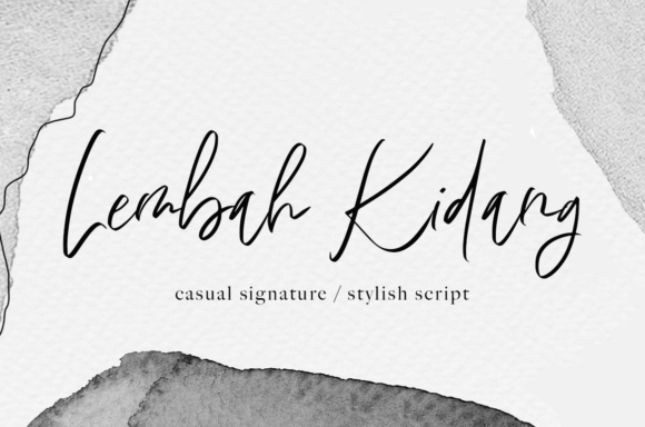Print on Demand: Lembah Kidang Script & Handwritten Font By agniardii