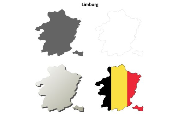Download Free Limburg Outline Map Set Flemish Versio Graphic By Davidzydd for Cricut Explore, Silhouette and other cutting machines.