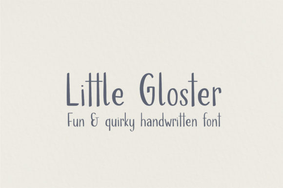 Print on Demand: Little Gloster Script & Handwritten Font By sunday nomad