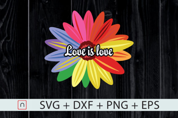 Download Free Love Is Love Love Daisy Lgbt Rainbow Graphic By Novalia for Cricut Explore, Silhouette and other cutting machines.