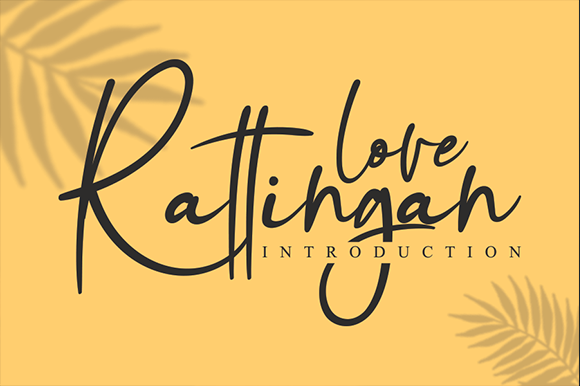 Print on Demand: Love Rattingan Script & Handwritten Font By andikastudio